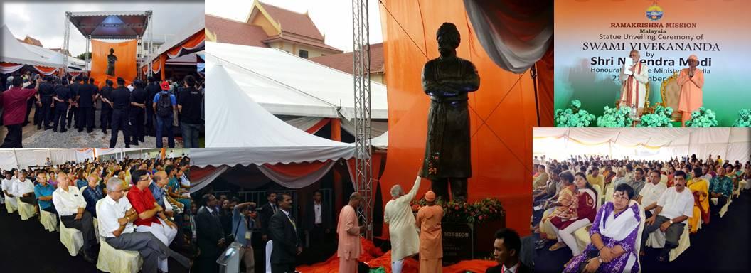 Swami Vivekananda Statue Unveiling Ceremony